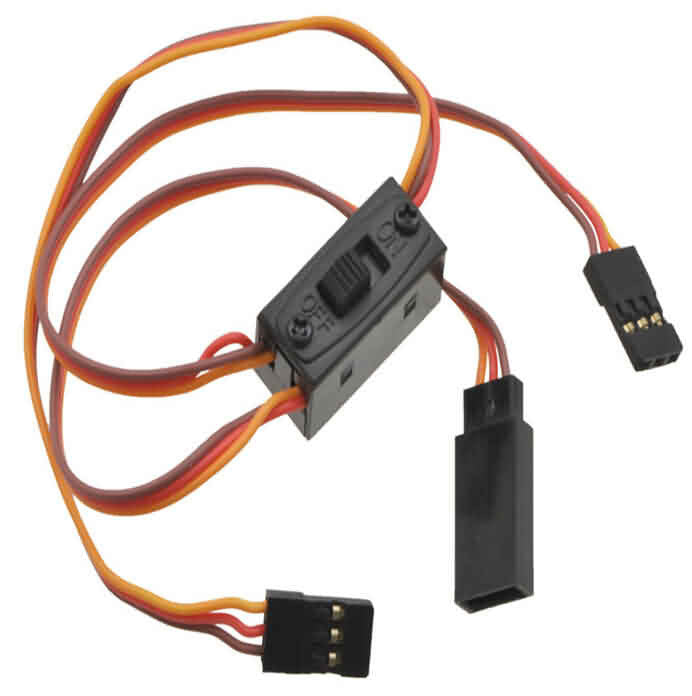 Servo Switch Harness: Futaba/JR Connector 30/45cm - 60 strands