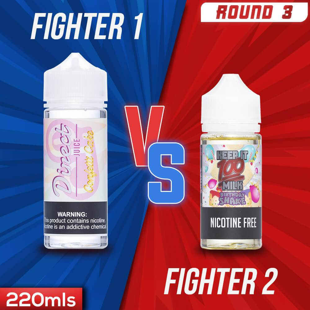 Us vs. Them - Direct Juice Confetti Cake vs. Keep It 100 Birthday Shake eJuice Showdown