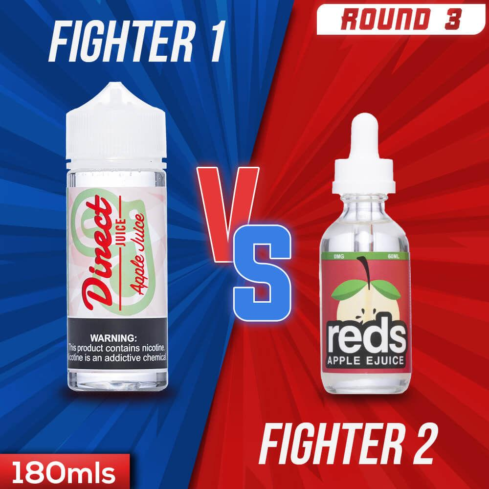 Us vs. Them - Direct Juice Apple Juice vs. Reds Apple eJuice Original eJuice Showdown