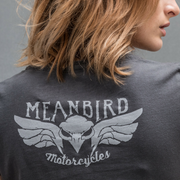 Mean Bird Motorcycles RIP (Ladies) T-Shirt
