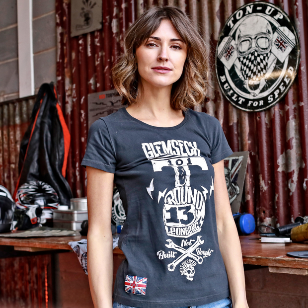 Glemseck Pistonhead (Ladies) Black T-Shirt