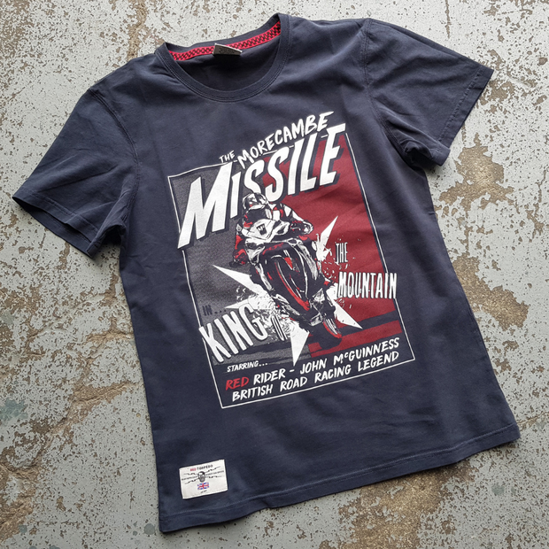 John McGuinness 'McMissile' (Mens) Black T-Shirt