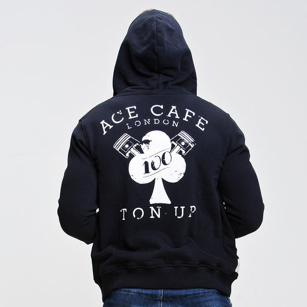 Ace Cafe Ton Up (Mens) Zip Hoodie