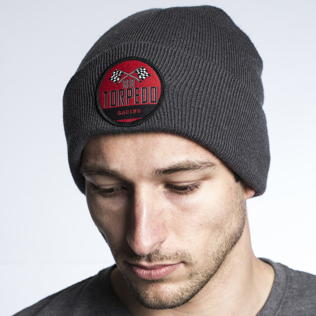 Retro Racing Graphite Beanie