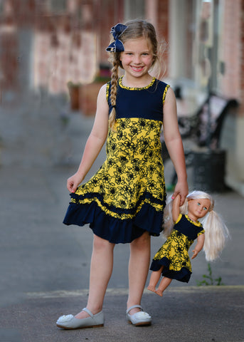 Roberta Dress - Bumble Bee 4, 6, 8, 10, 12