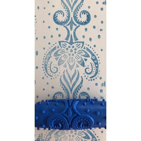 Roller insert -  (requires roller frame) 'Flower Damask' pattern - Granny B's Old Fashioned Paint