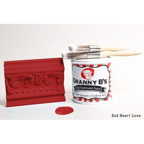 Old Fashioned Paint - Red Heart Love (Postbox Red) - Granny B's Old Fashioned Paint