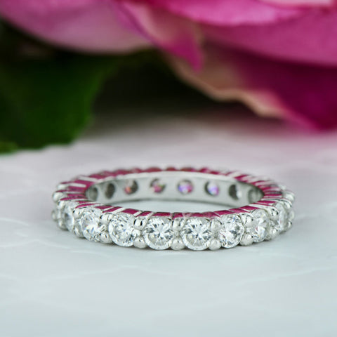 Short Micropave Half Eternity Band, 40% Final Sale, Sz 4-8