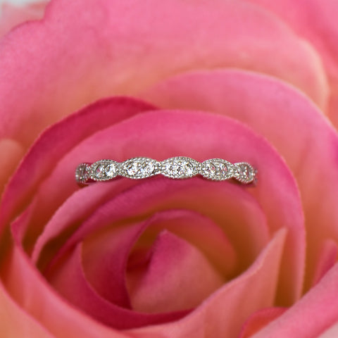 Small Channel Half Eternity Band - RGP