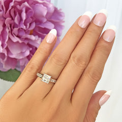 1.5 ctw Princess Channel Ring - 40% Final Sale