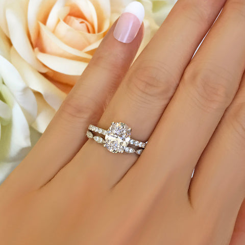 1 ct Round Solitaire Set