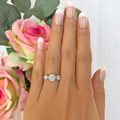 10 ctw 3 Stone Radiant Ring - 60% Final Sale