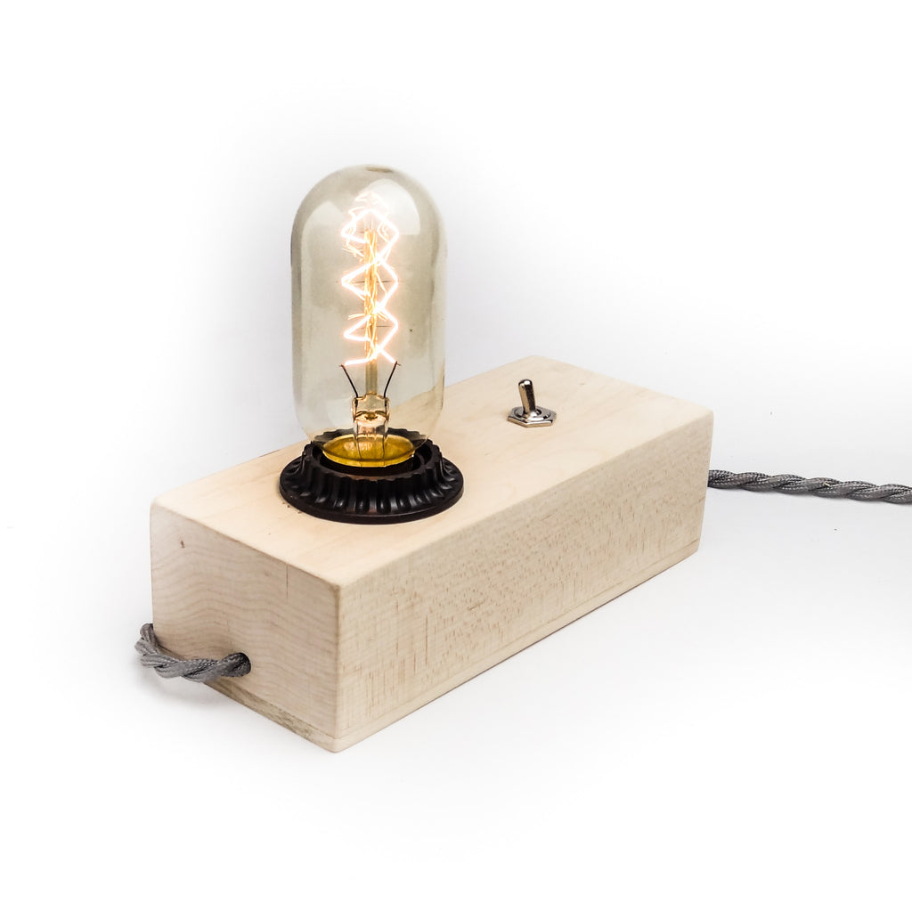 Maple Desktop Edison Lamp