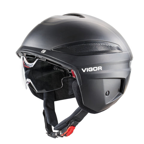 Cratoni-Vigor - Motorcycle Rated-Helmet-Small (54-55cm)-Black-urban.ebikes
