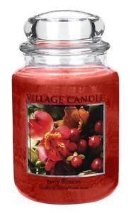 NEW FRAGRANCE - BERRY BLOSSOM Village Candle Large Jar 26oz 1219g - Candles Sniffs & Gifts