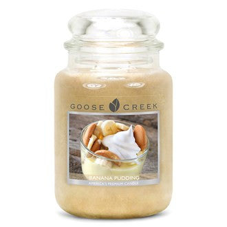 Banana Pudding Goose Creek 24oz Large Candle Jar - Candles Sniffs & Gifts