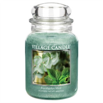 Village Candle Eucalyptus Mint Large Jar 26oz 1219g - Candles Sniffs & Gifts
