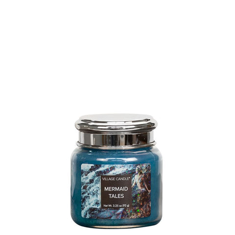 NEW Village Candle Fantasy Collection Mermaid Tails Petite Jar 3.75oz - Candles Sniffs & Gifts