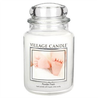 Village Candle Powder Fresh Large Jar 26oz 1219g - Candles Sniffs & Gifts