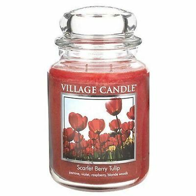 Village Candle Scarlet Berry Tulip Large Jar 26oz 1219g - Candles Sniffs & Gifts