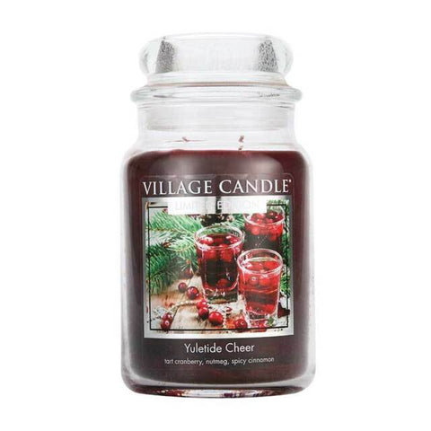 Yuletide Cheer Village Candle Large Jar 26oz 1219g - Candles Sniffs & Gifts