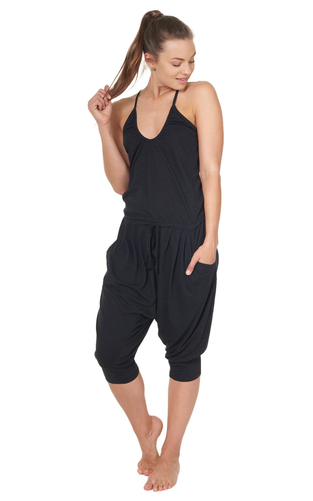 Gym Jumpsuit in Black