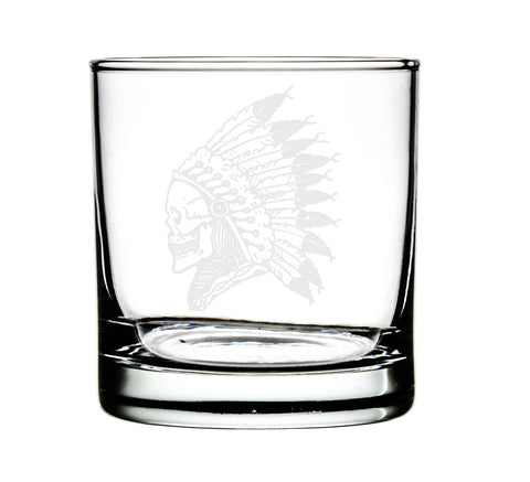 ARBOR - Chief Skull - Set of 4 Whiskey Glasses