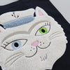 Chenille Embroidered Vana the Cat Bag