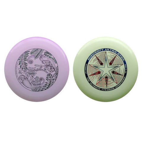 An image showing UV & Glow Discraft Ultra-Star Combo Pack a discs golf for frisbee.