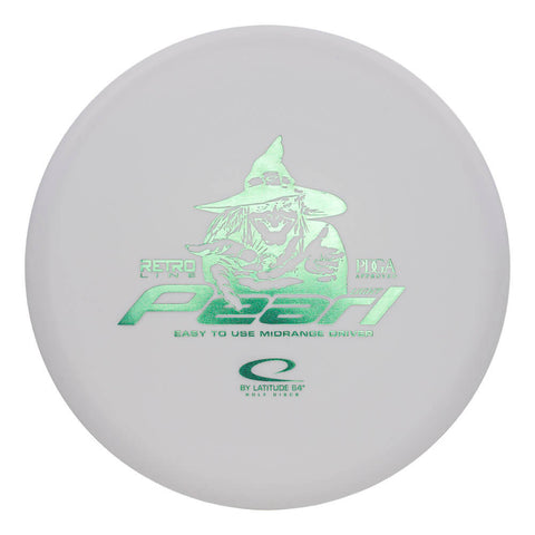 An image showing Latitude 64 Disc Golf, white in color. A disc golf for frisbee