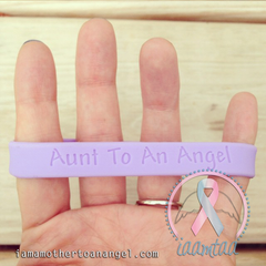 Wristband - Aunt To An Angel - Lavender