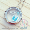 Silver Winged Heart - Memory Locket Charm