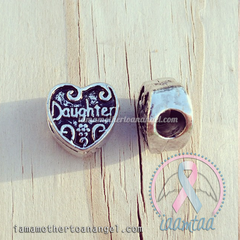 Daughter Heart - European Charm (Pandora Style)