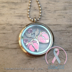 Double Hearts - Pink Themed Memory Locket