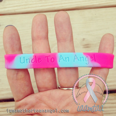 Wristband - Uncle To An Angel - Pink/Blue