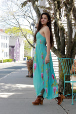 Turquoise Wisteria Dress