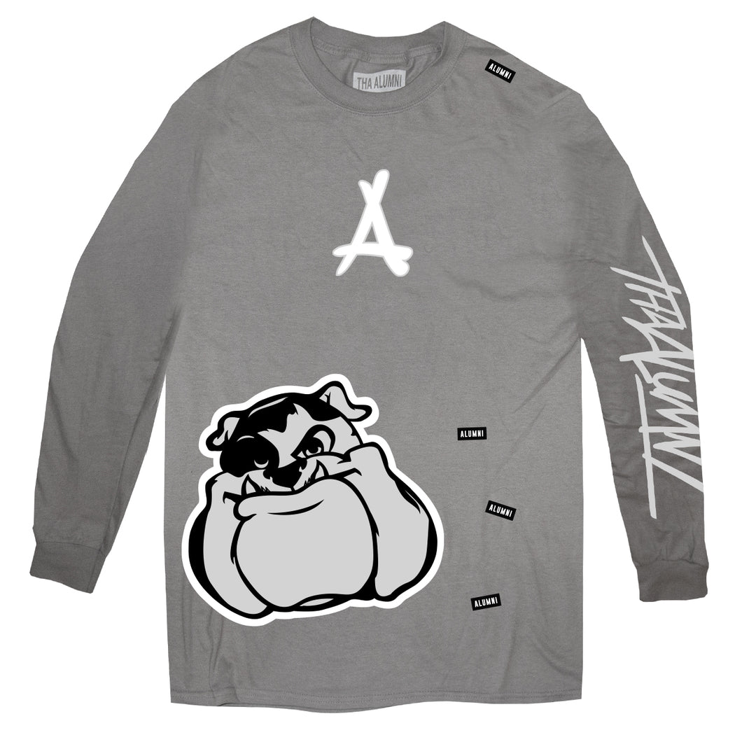 AOP LONG SLEEVE TEE (SOLID GREY)