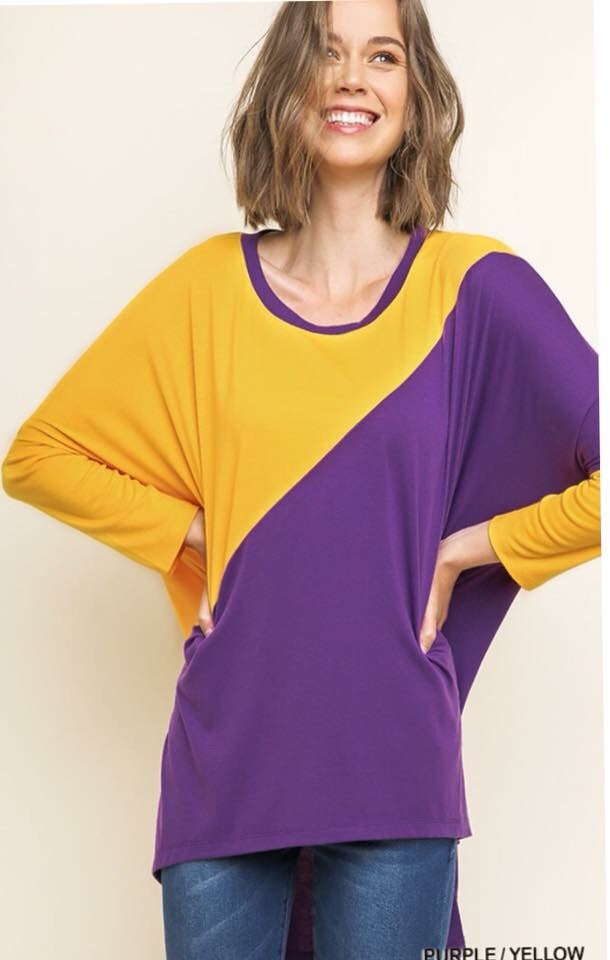 Purple and Gold Shirt