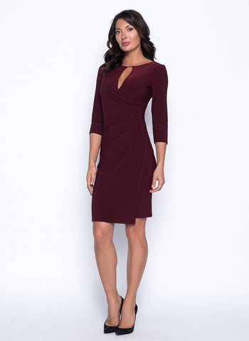 WINE WRAP DRESS
