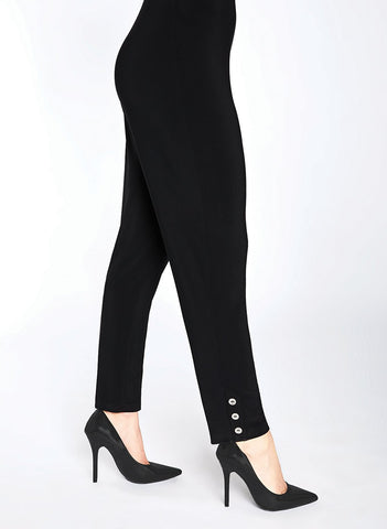 NARROW CHARM  PANT WITH       BUTTONS AT ANKLE