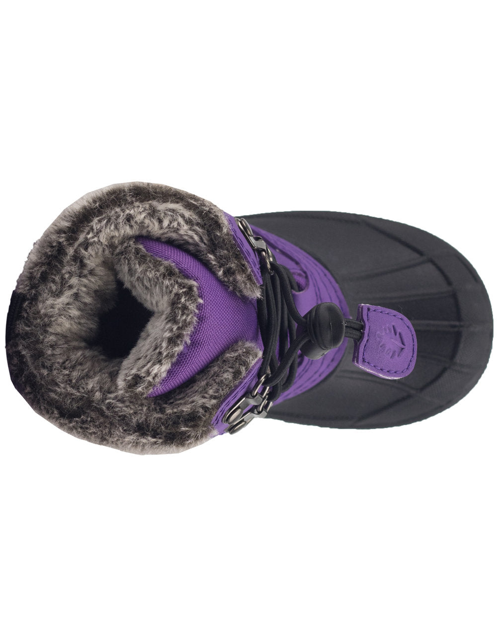Plum Purple Lace Up Winter Snow Boots