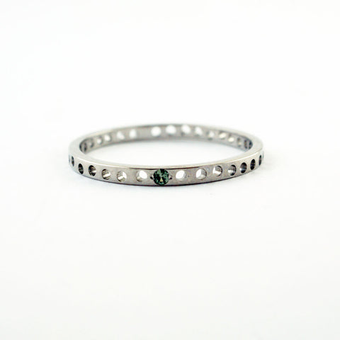 14ct white gold 'lace' ring with peridot, price available on request