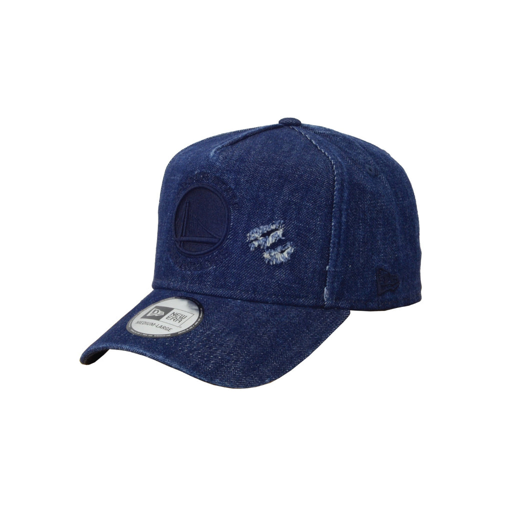 NBA Golden State Warriors Savage Denim New Era 9Forty K-Frame Cap