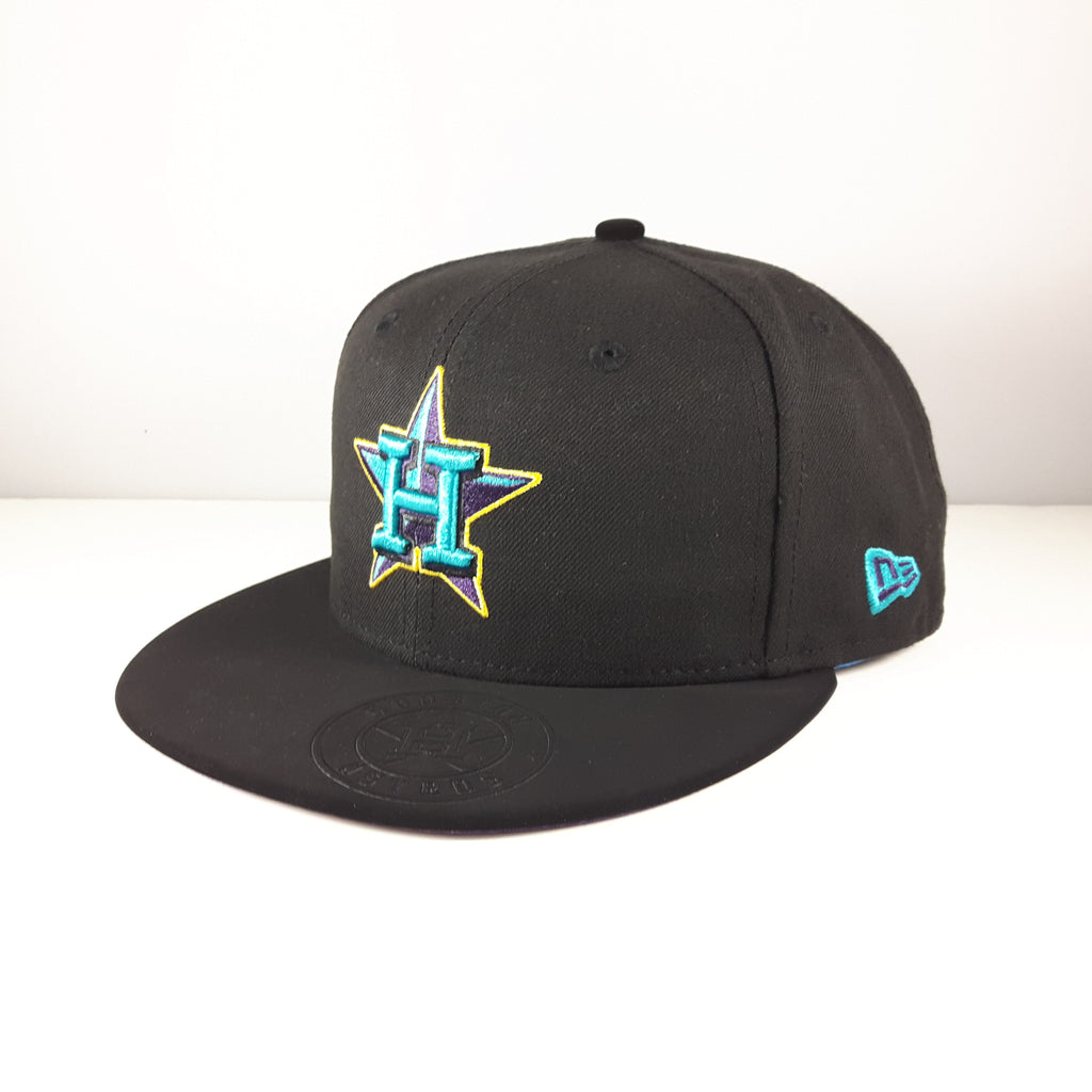 MLB Aqua Hook Houston Astros New Era 59Fifty Fitted Cap