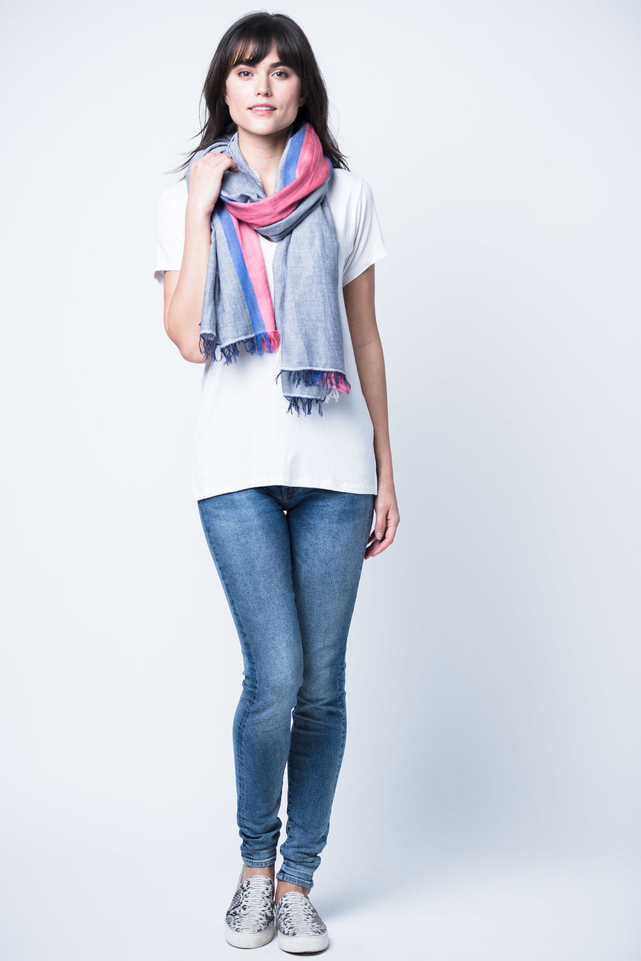 Tres Cotton Scarf - Blue