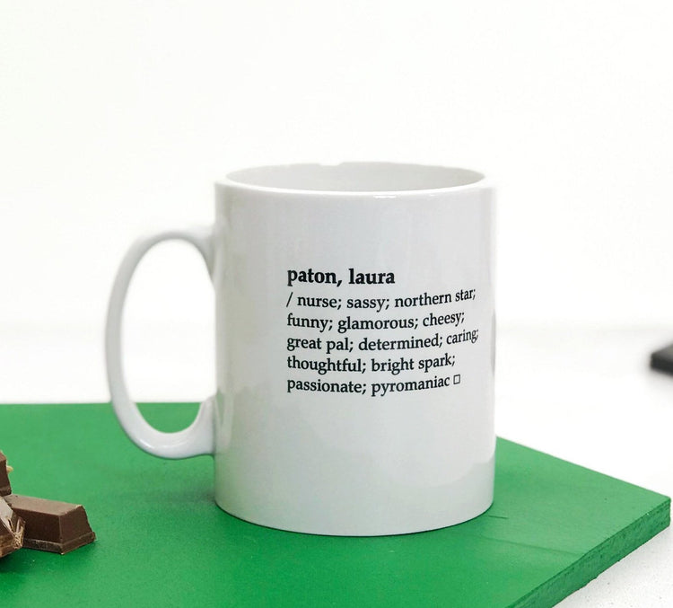 Dictionary Definition Mug