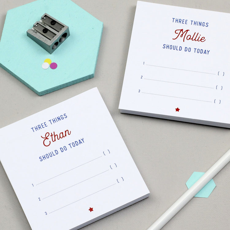 Three Things To Do Today Notepads (Pair of Mini)