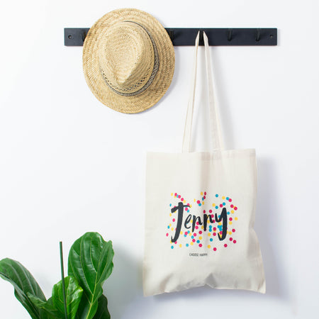 Personalised Happiness Tote Bag