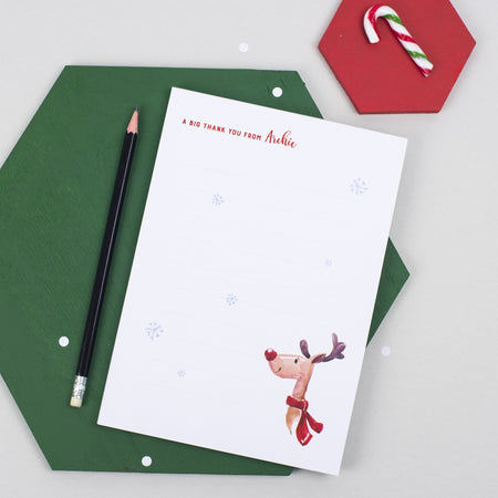 Christmas Thank You Notepad (A5