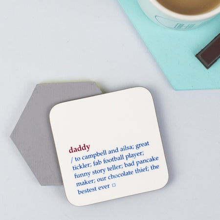 Daddy Dictionary Definition Coaster
